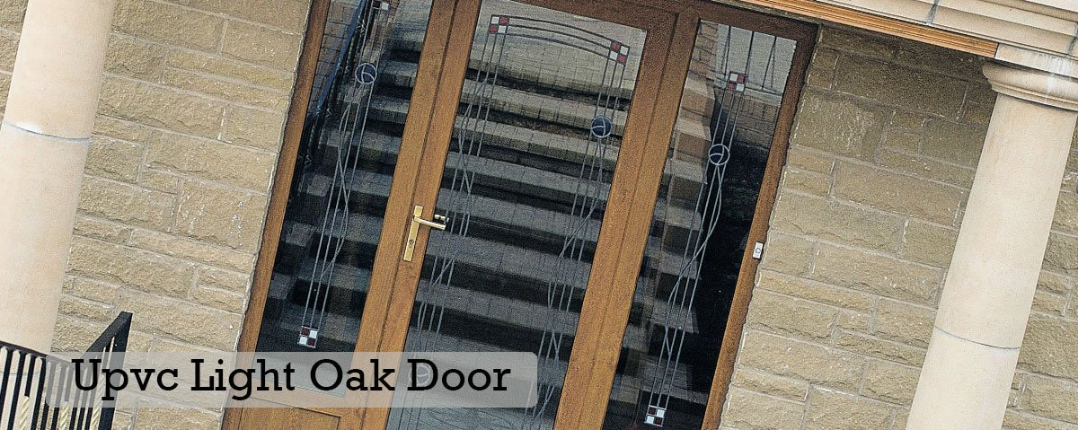 Upvc Light Oak Door